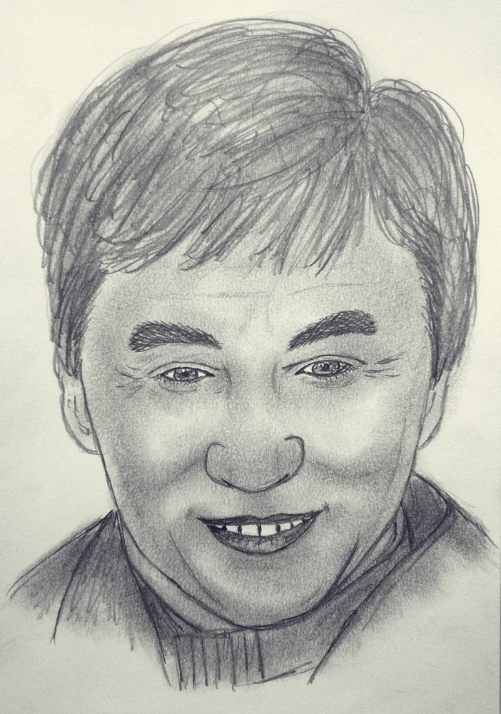 Jackie Chan by kendzik
